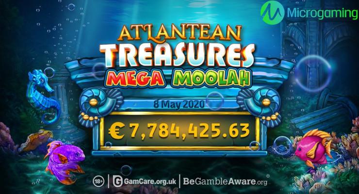 Erster Jackpot Gewinn von 7,8 Mio. Euro bei Atlantean Treasures Mega Moolah
