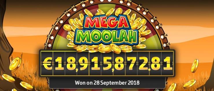 Jackpot Rekord: Mega Moolah 2018 bei 18,9 Millionen Euro geknackt