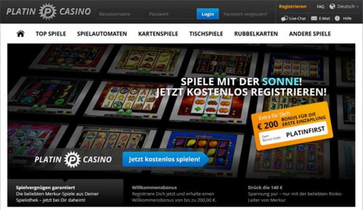 Merkur Spiele online bei Platincasino