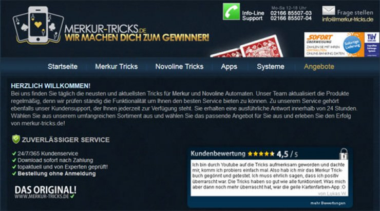 Merkur Tricks App Download