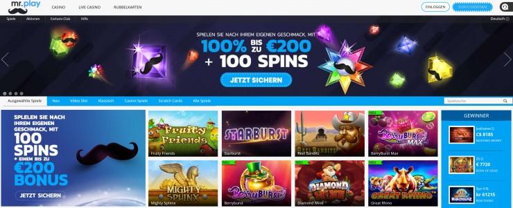 Das neue Casino mr.play: Kurztest und erste Erfahrungen