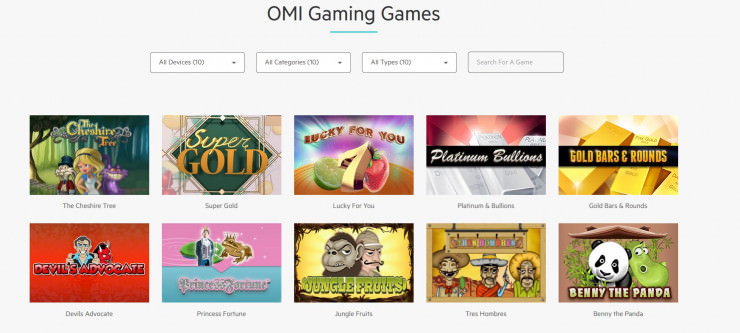 Vorstellung von OMI Gaming: Slots und Online Casinos mit den Games