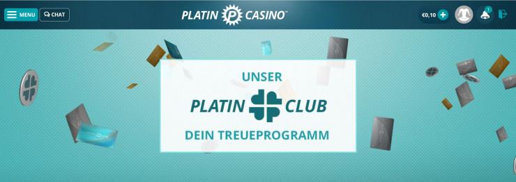 Platincasino's neues Treueprogramm – der Platinclub
