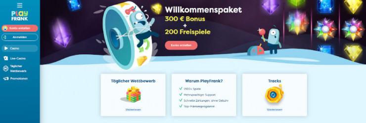Neu auf GambleJoe: Erste Erfahrungen mit dem PlayFrank Casino im Kurztest