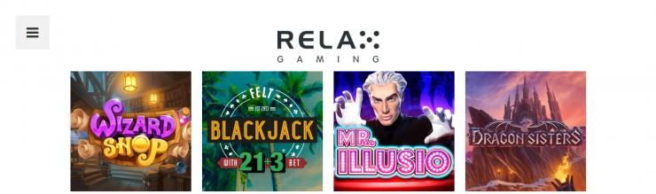 Vorstellung von Relax Gaming: Slots und Online Casinos mit den Games
