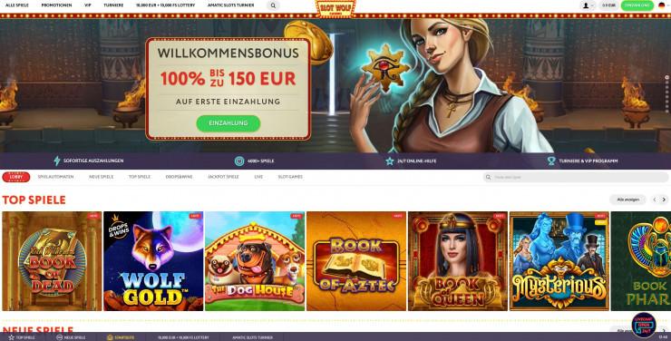 Neu auf GambleJoe: Erfahrungen mit SlotWolf Casino im ersten Test