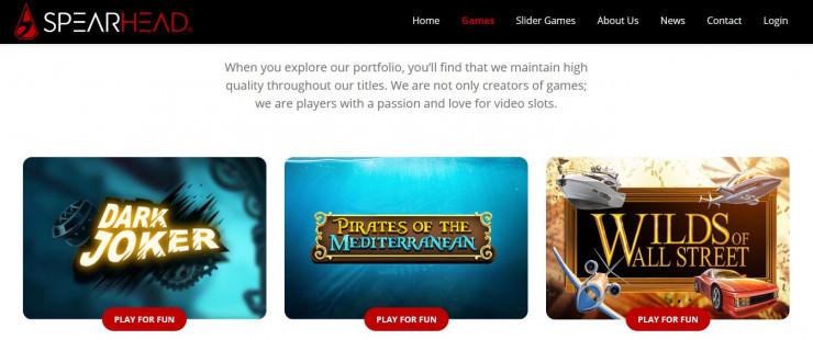 Vorstellung von Spearhead Studios: Slots und Online Casinos mit den Games