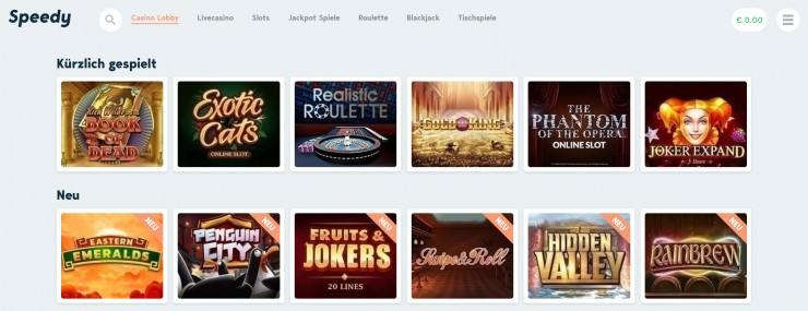 Speedy Casino im Kurztest: Das erste Casino ohne Spielerkonto