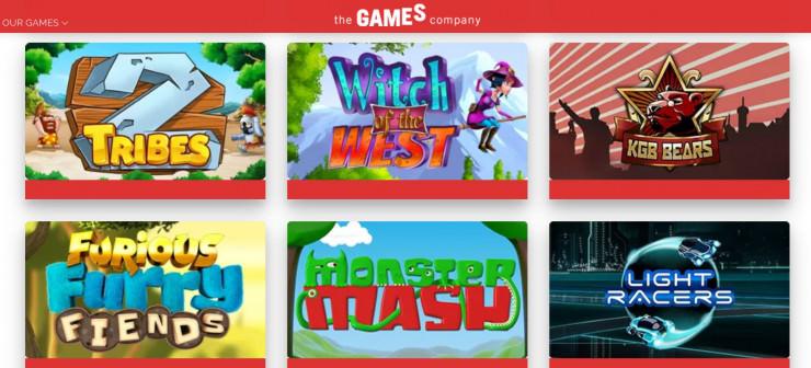 Vorstellung von The Games Company: Slots und Online Casinos mit den Games