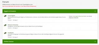 Das GambleJoe Forum ist nun online