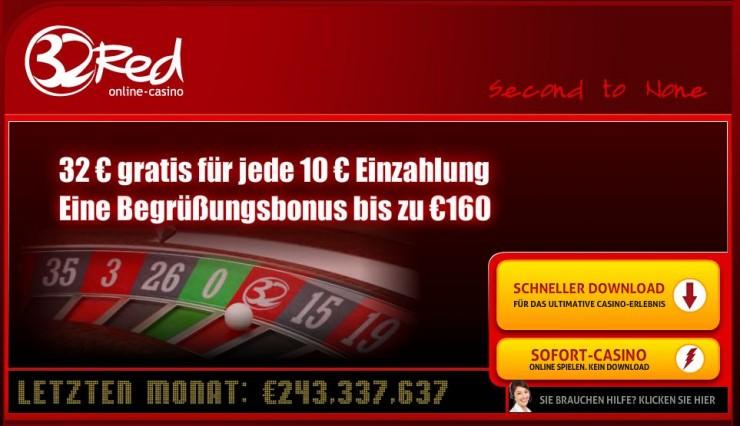 UK GC: 2 Millionen Pfund Strafe für das Online Casino 32Red
