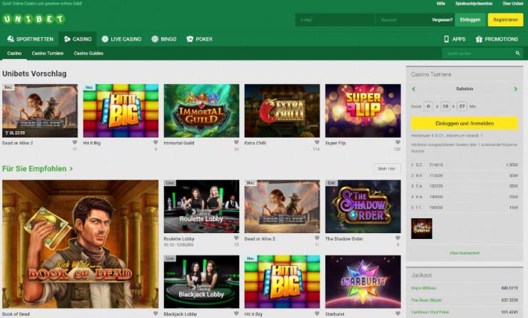 Neu auf GambleJoe: Erste Erfahrungen mit dem Unibet Casino im ersten Test