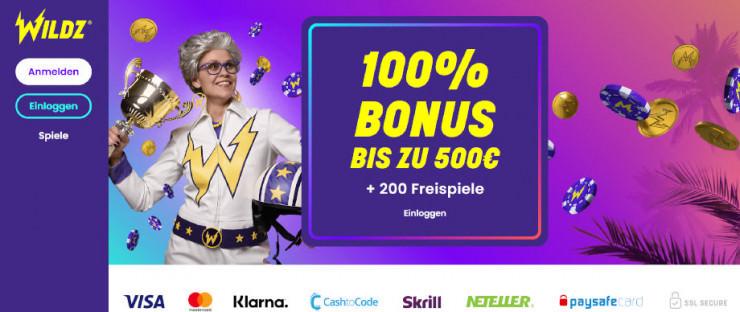 Wildz: Das neue Online Casino im ersten Kurztest