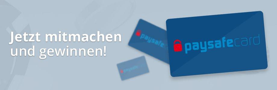 Wir verlosen 40 mal 25 Euro paysafecards