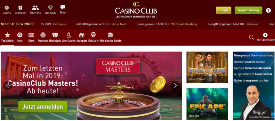Titelbild des Casino Club Testbericht