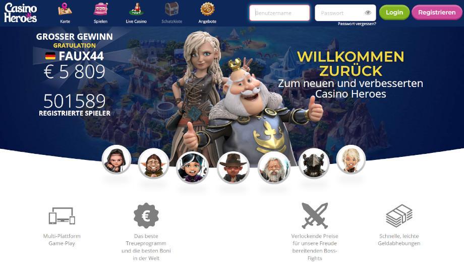 Titelbild des Casino Heroes Testbericht