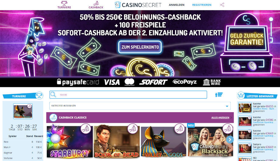Titelbild des CasinoSecret Testbericht