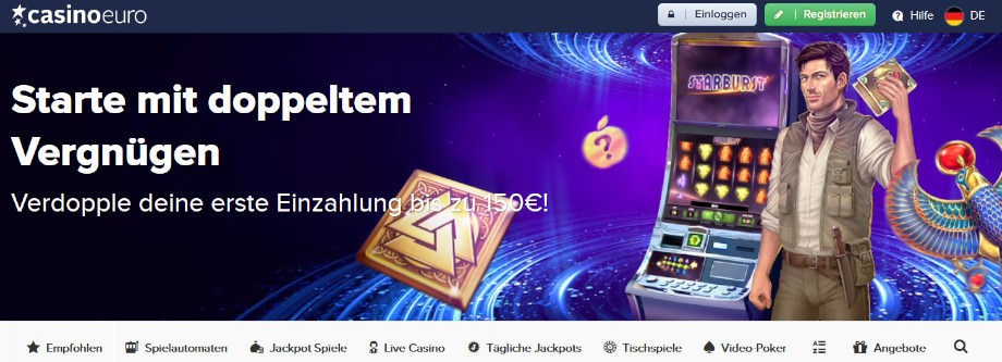 Titelbild des CasinoEuro Testbericht
