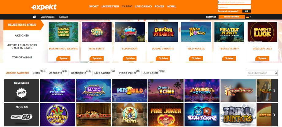 Titelbild des Expekt Casino Testbericht