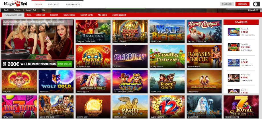 Titelbild des MagicRed Casino Testbericht