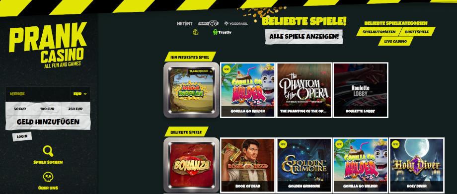 Titelbild des Prank Casino Testbericht