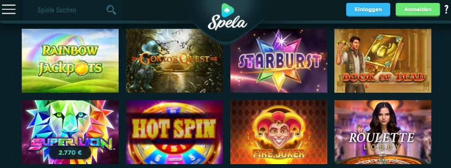 Titelbild des Spela Casino Testbericht