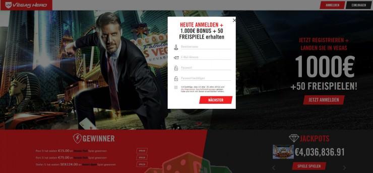 Titelbild des Vegas Hero Testbericht